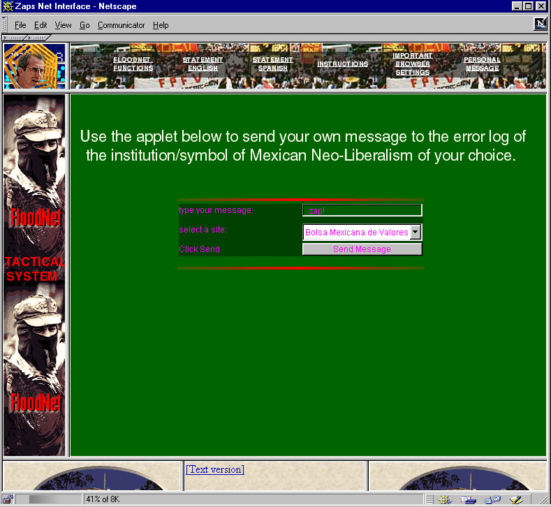 FloodNet screenshot (1999)