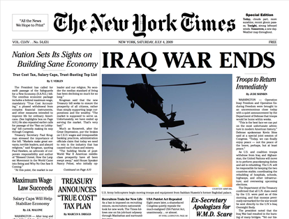 NYT Special Edition: Iraq War Ends