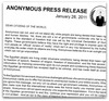 Anonymous: Operation Egypt - Press Release