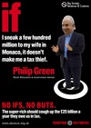 UK Uncut BIG Philip Green poster