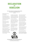 Extinction Rebellion Declaration of Rebellion
