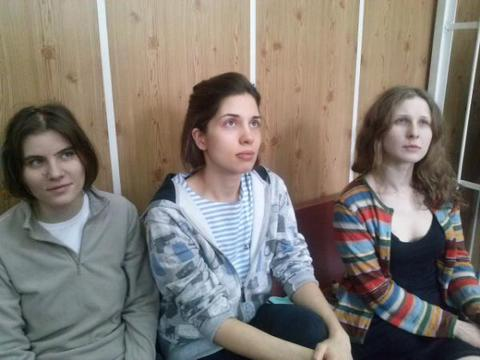 Detained Members of Pussy Riot