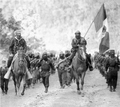 Subcommandante Marcos with the EZLN