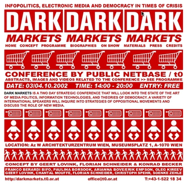 Dark Markets - Infopolitics, Electronic Media, and DEmocracy in Times of Crisis