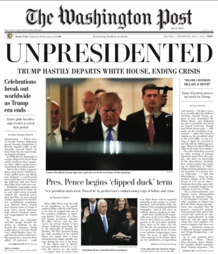 "Unpresidented - Washibgton Post: ""Trumpl Flees White House"""